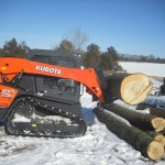 Log removal with Aerial Tree Service - Eau Claire, Chippewa Falls and Menomonie